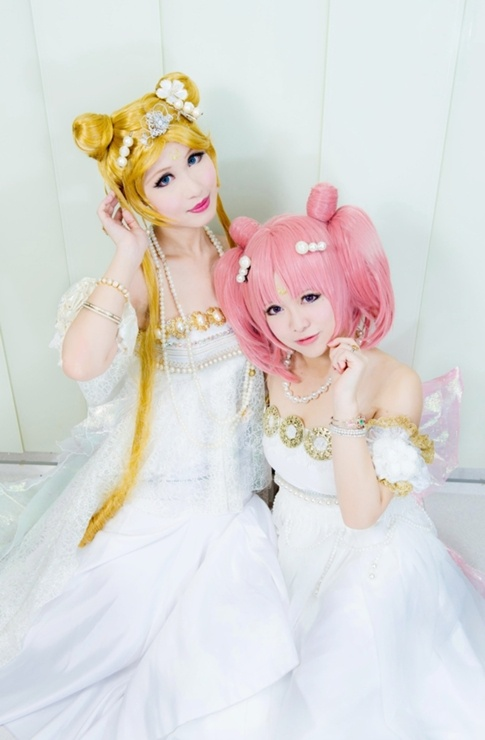 Sailor Moon and Chibi Moon