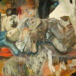 der Träumer 2008, Ei-Tempera, Öl auf Leinwand, 120 x 200 cm