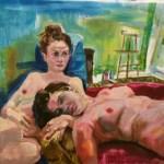 Sonntag Morgen im Atelier,  Öl auf Leinwand, 125 x 165 cm, 2013