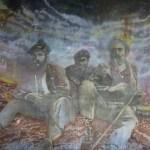 Hunters 2014 140 x 160 cm Öl und Spray auf Leinwand