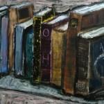 Bücher1 2014 Öl auf Leinwand 65x75cm