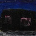 blockhaus 2012 Öl auf Leinwand 30x40cm