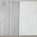 regen 2008, Styroporkleber, Blei- und Filzstift auf Holz, 30 cm x 34 cm