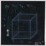 tafelkubus 2010, Kreide, Ölpastell und Lack auf Karton, 31 cm x 31 cm