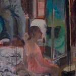 Die Guckerin 2010 Ei-Tempera, Öl auf Leinwand 120 x 200 cm