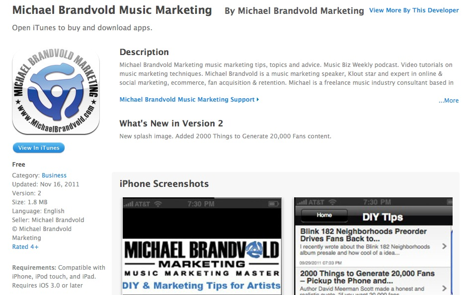 Michael Brandvold Marketing App