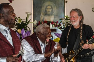 Bells of Joy often play church services with Willie Nelson.