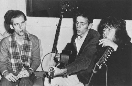 Waller Creek Boys: L-R St. John, Wiggins, Joplin