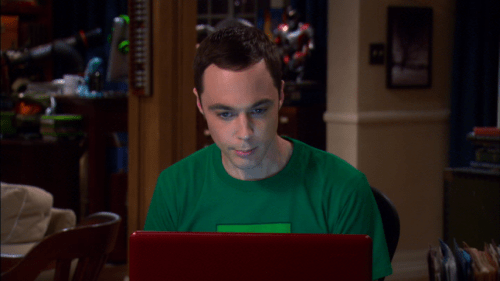 Big Bang Theory: Sheldon videoconferencing with Amy