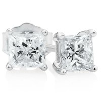 Classic Stud Earrings with 1 Carat TW of Diamonds in 14kt ...