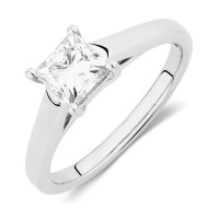 Ideal Cut Solitaire Engagement Ring with a 1 Carat Diamond ...