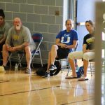 A few of the college coaches in attendance