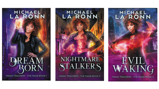 Banner with all three books in Magic Trackers series.