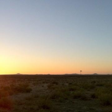 lightning field sunset2