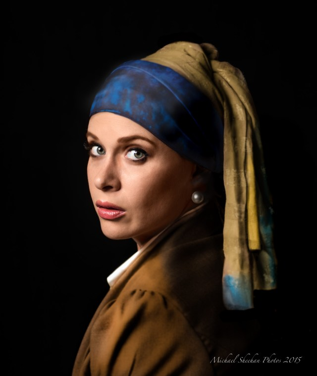 Erin with her Pearl Earring