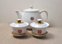 DIY wedding tea pot and cups