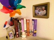 my-books-on-cabinet