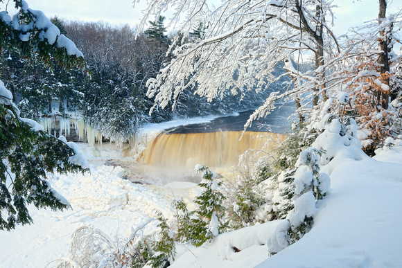 Tahquamenon Falls Michigan Winter Wallpaper Michigan Nut Photography Waterfall Gallery State Of