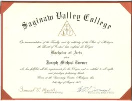 Bachelor Degree Certificate