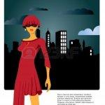 9943800-la-moda-ilustracion-de-una-mujer-en-vestido-rojo-sobre-la-silueta-paisaje-urbano