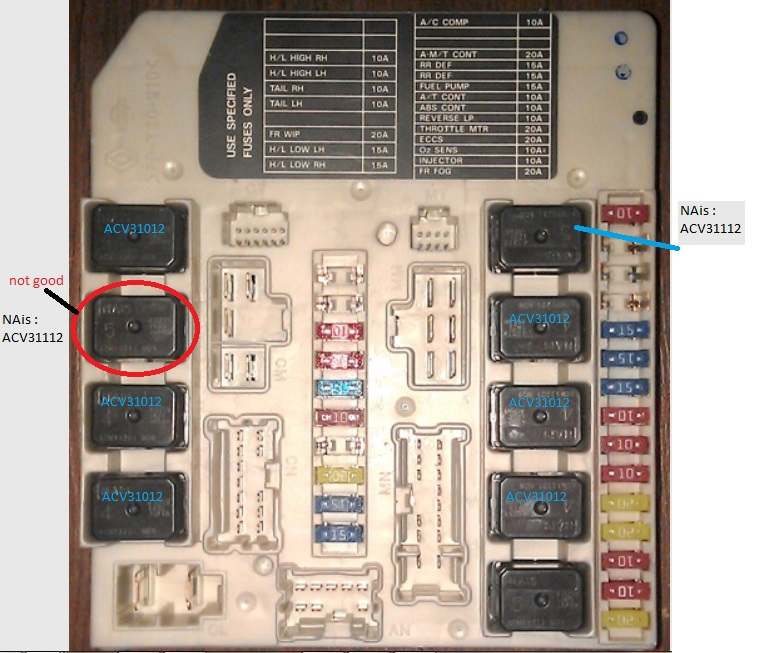 2010 nissan an fuse box diagram