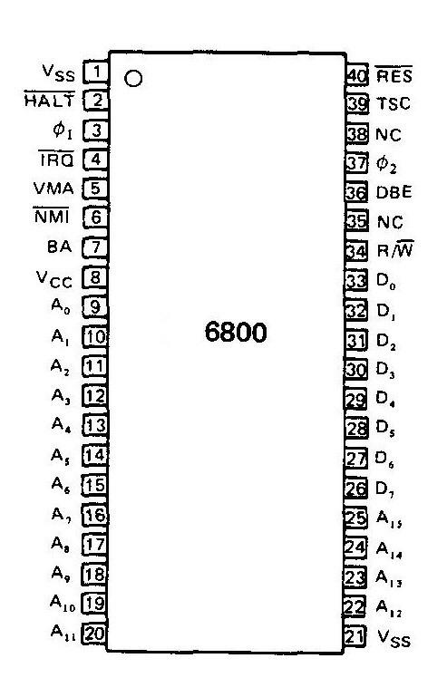 block diagram of motorola 6800