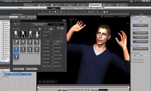 Motion Puppet lets you preview animation clips and manipulate the rig of the character