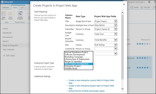 Demand Management and Ideation in Microsoft Project Online