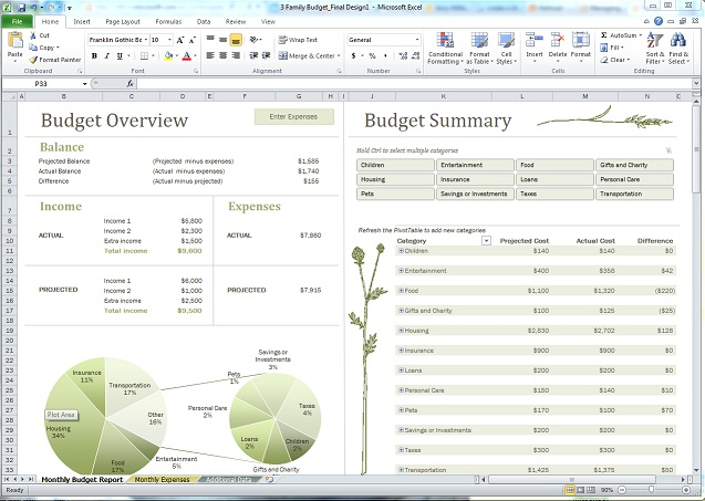Staying on budget might be easier than you think - Microsoft 365 Blog - family budget template