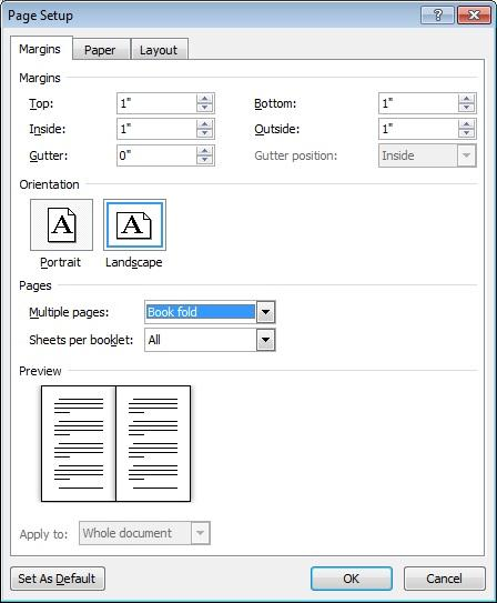 Booklets in Word 2010 - Microsoft 365 Blog - booklet template word