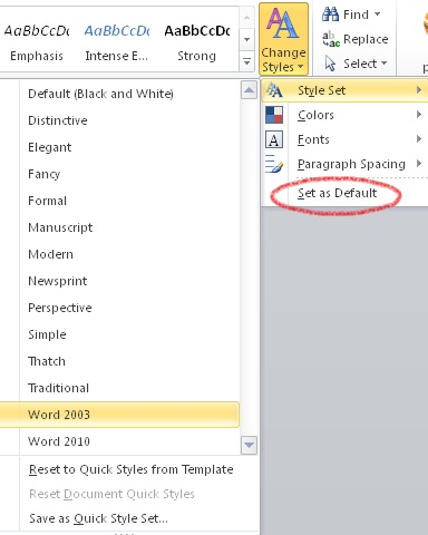 Ms Word Default Template | ophion.co