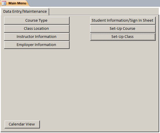 Class Student Database Template Class Tracking Database