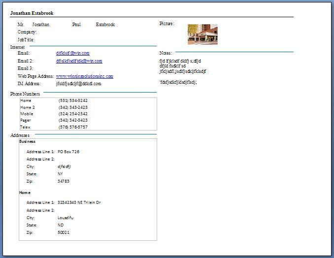 Custom Customer Contact Database Template CRM