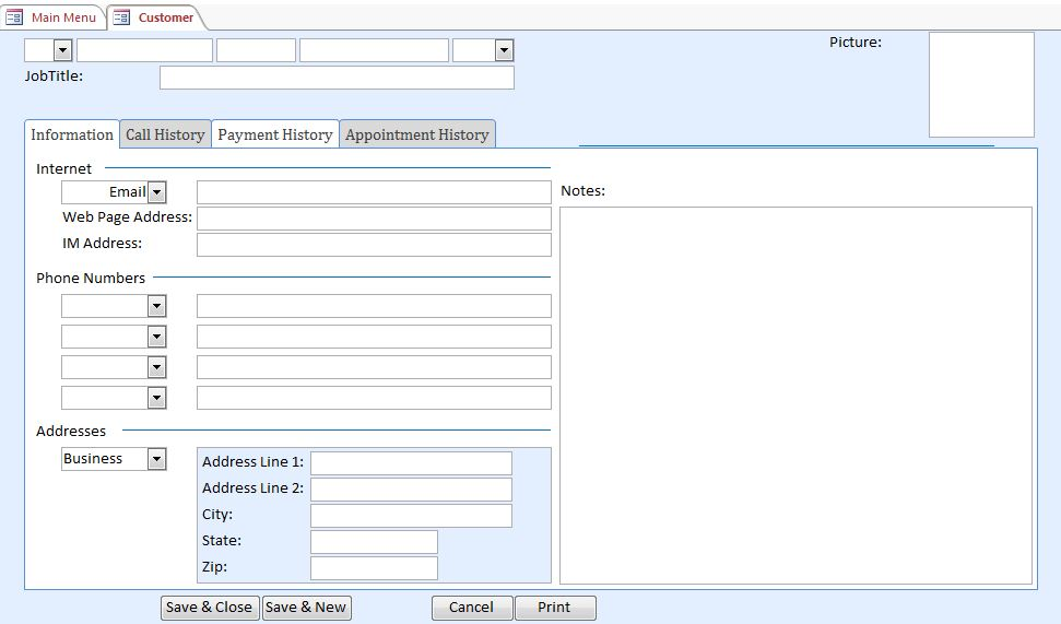 Microsoft Access Day Care Contact Tracking Database Template Outlook