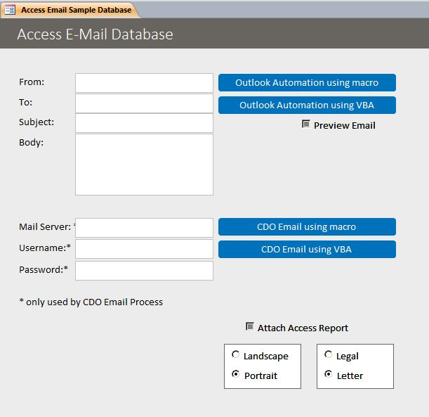 Microsoft Access Email Database