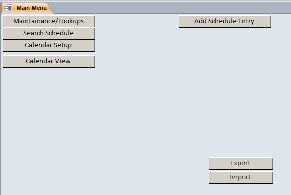 Microsoft Access Employee Scheduling Database Template