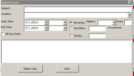 Microsoft Excel Calendar Scheduling Database Template