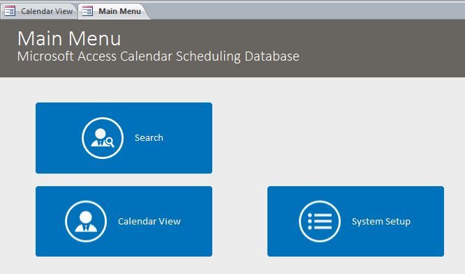 Calendar Scheduling Database Template Calendar Database