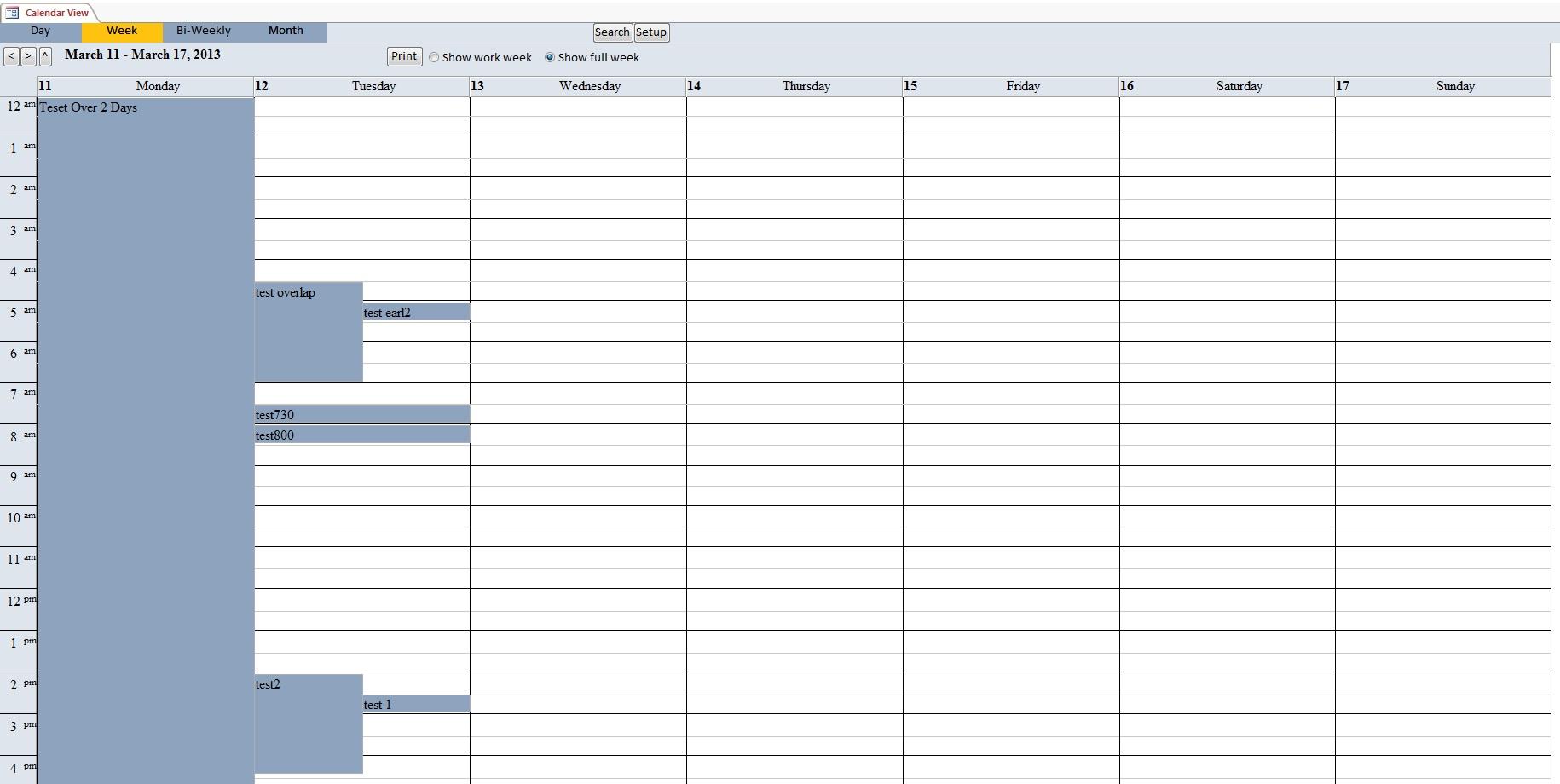 "Access 2013 Create A Calendar Report Microsoft Access 20131007 Welcome To Bookbd Search Results For ""bi Weekly Blank Calendar 2013"