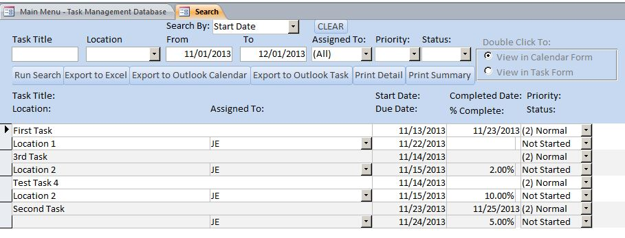 Enhanced Task Management Database Template Task Tracking Database