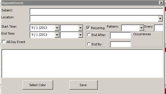 Microsoft Excel Calendar Scheduling Database Template