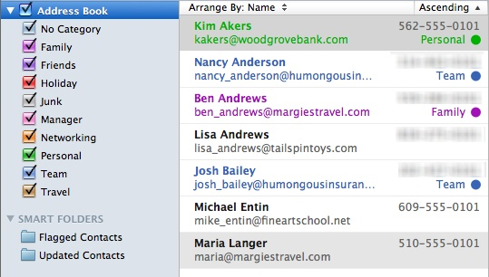 Organizing Your Contacts List in Microsoft Outlook for Mac 2011 - family address book