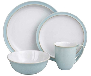Discontinued Denby Blue Linen Dinnerware
