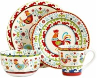 Discontinued 222 Fifth Suzani Rooster Dinnerware
