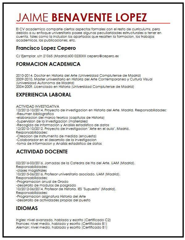 Modelo de CV con Ano Sabatico Muestra Curriculum Vitae