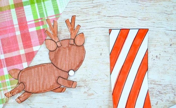 Flying Paper Reindeer Craft with Printable Template! \u2022 MidgetMomma
