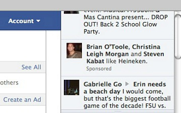 facebook sponsored stories ticker Facebook no perde tempo. Agora deve ter publicidade no news ticker tambm.