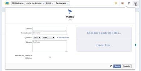 criando um marco facebook fan page 500x253 Como você pode personalizar a linha do tempo da sua fan page no Facebook