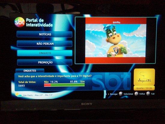 exemplo de tv digital no brasil sbt Ginga e o futuro da interatividade na TV Digital do Brasil