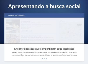 Demonstrao da busca social em funcionamento. Usurios faz busca refinado por assuntos.